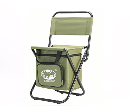 Beach Chair with Cooler Bag Multi-Function for Fishing, Camping and Travel (Camouflage)