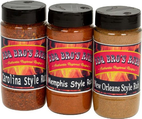 BBQ BROS RUBS {Southern Style} - Ultimate BBQ Spice Seasoning Set