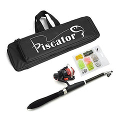 Piscator Zone Professional Fishing Tackle Kit, Portable Lure Rod Set with 1.6m/63in Lure