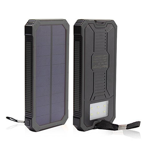 Solar Charger, 12000mAh Portable Solar Powered Phone Charger Dual USB