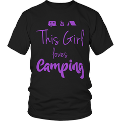 Limited Edition - This Girl Loves Camping PURPLE DESIGN