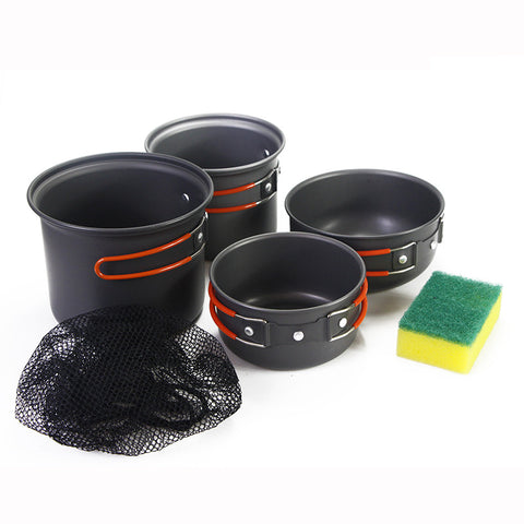Camping Cooking Set 4-pc Non-stick Pots
