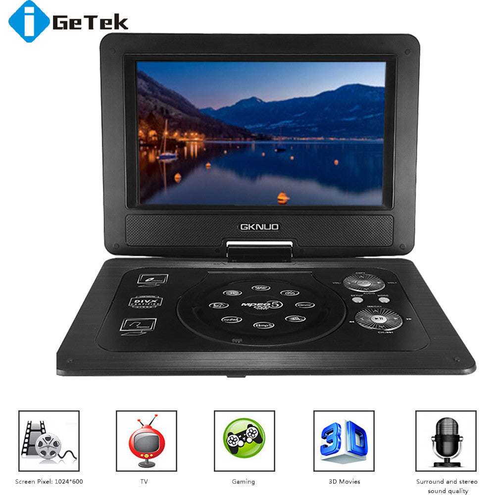 Portable Home DVD Player with 1024 * 600 Screen