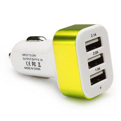 Car Charger, Triple USB or 4 Port Adapter