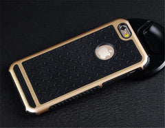 iPhone Case Gold Grey Shockproof Rubber