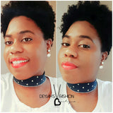 "Denim ""Love"" Choker"