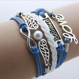Leather Bracelets (Infinity, Love, Hearts)