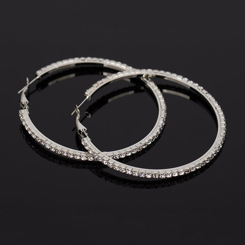 Rhinestone Belt Hoop Earrings