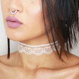 2016 Black White Lace Choker Necklace