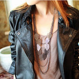 Trendy Punk Leaf Necklaces/Sweater chain