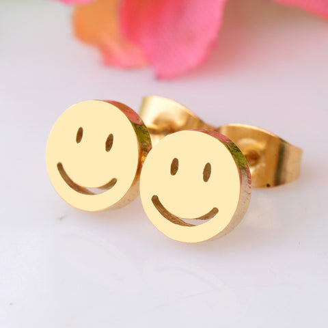 Smiling Face Studs Earrings