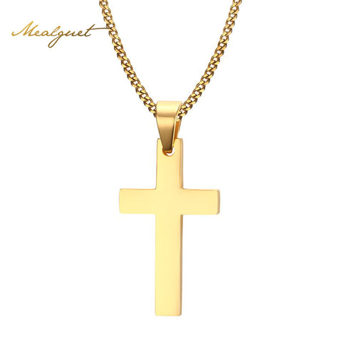 Gold Cross Necklace & Pendant