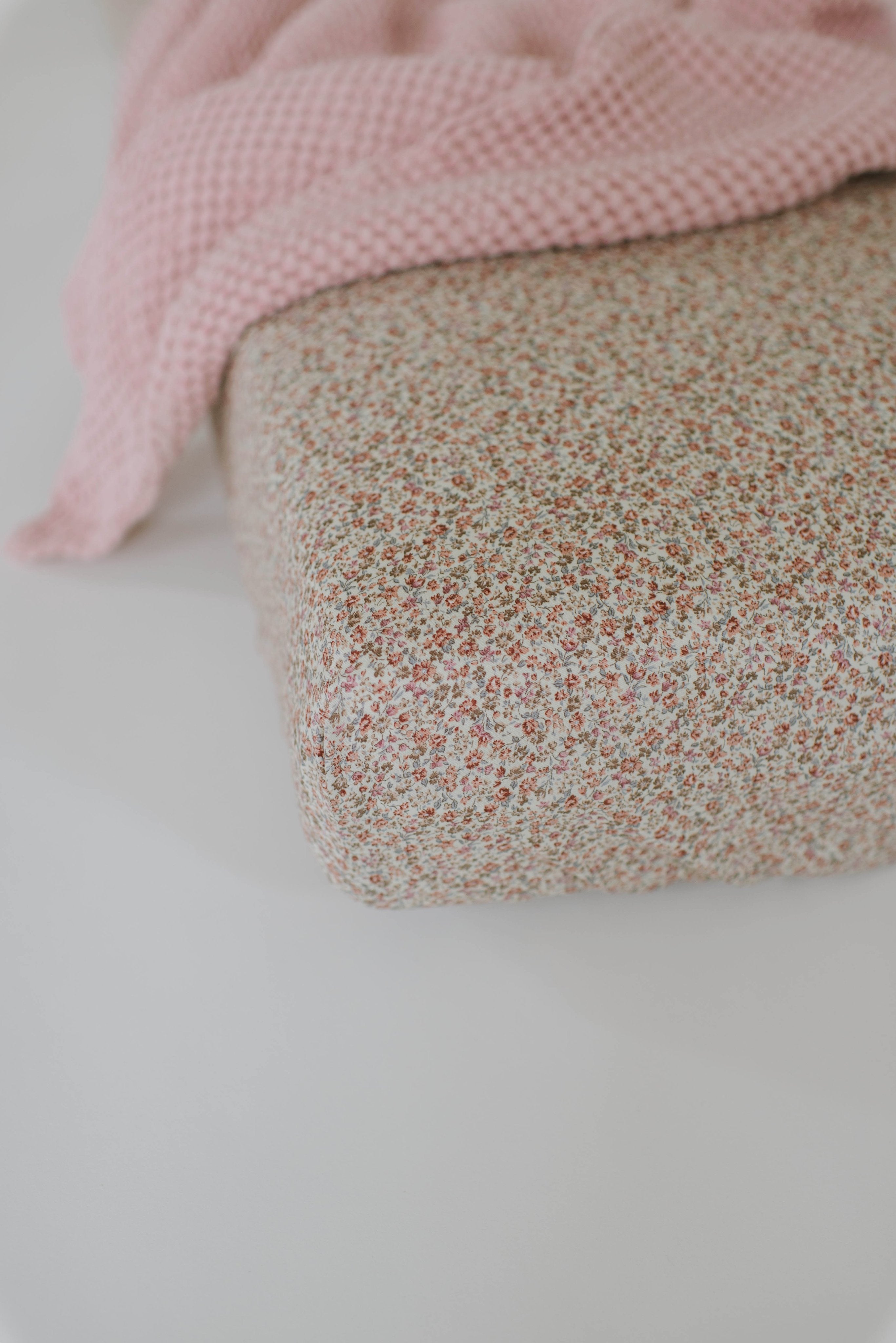 Rose Floral Crib Sheet