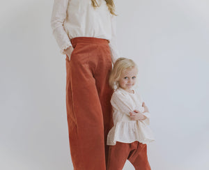 Easy Wide-Leg Corduroy Pant