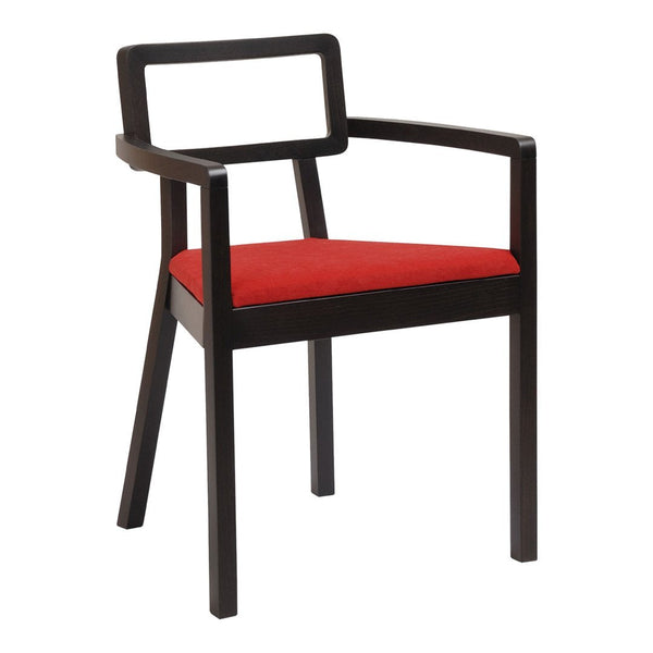 Armchair Cordoba 610 - Seat Upholstered - Beech Frame