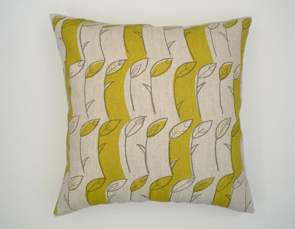 Prairie Grass 18x18 Pillow - pebble, chartreuse - Outlet Item (Condition: Opened box)