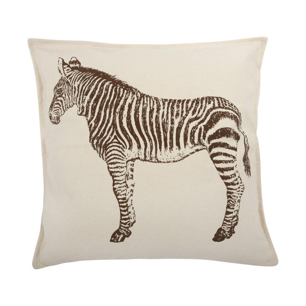 Zebra Canvas Pillow in Java - Outlet Item (Condition: Opened box)