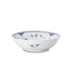 Blue Fluted Half Lace Serving Bowl