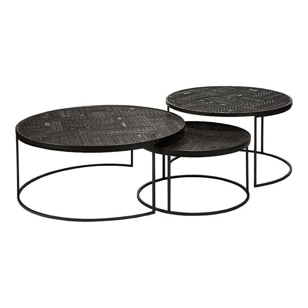 Tabwa Round Nesting Coffee Table - Set of 3