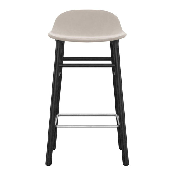 Form Bar/Counter Stool - Wood Legs - Upholstered