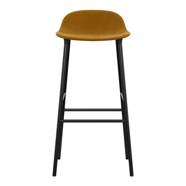 Form Barstool - Metal Legs - Upholstered