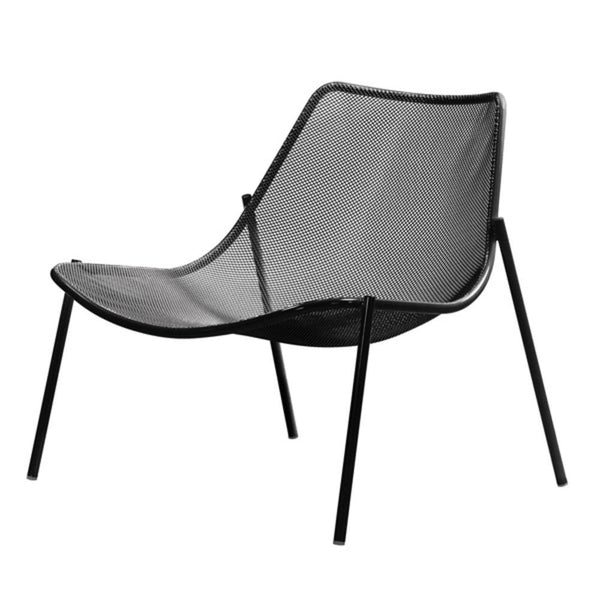 Coalesse Emu Round Lounge Chair - Set of Two, Textured Matte Black