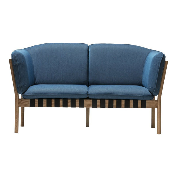 Dowel Two-Seater Lounge Sofa - Seat Upholstered - Beech Pigment Frame