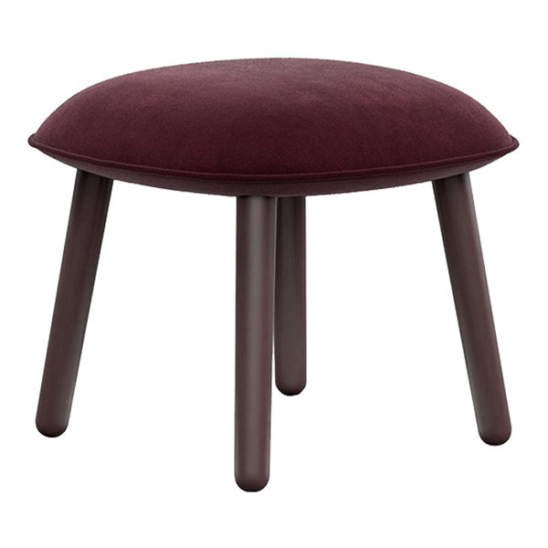 Ace Footstool - Velour Dark Red / Stained Beech - Outlet