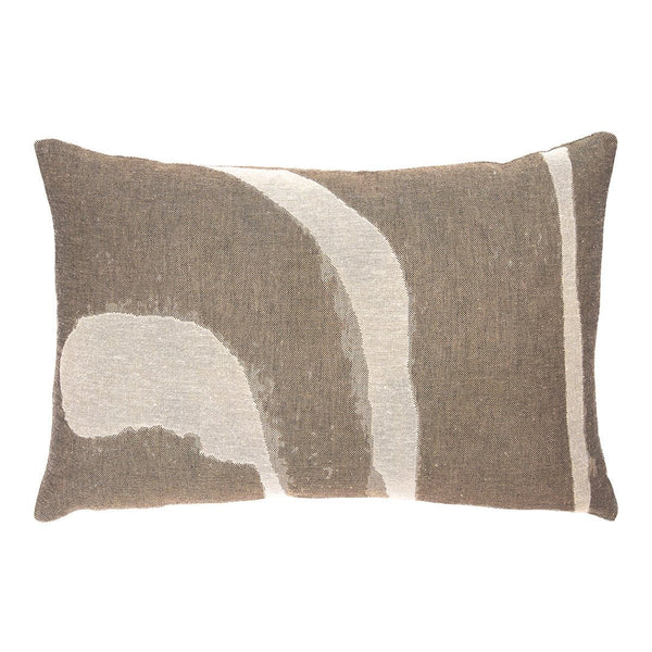 Refined Layers Abstract Detail Rectangle Lumbar Cushion