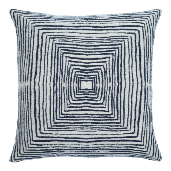 Mystic Ink Linear Square Cushion