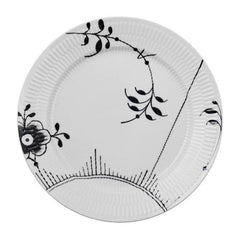 Black Fluted Mega Dinner Plates