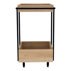 Oak Bar Cart