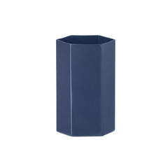 firm LIVING Hexagon Vase - Blue