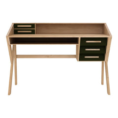 Oak Origami Desk - 5 Drawers