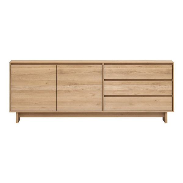 Wave Sideboard - 2 Doors with 3 Drawers