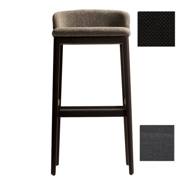 "Concord 529M Bar Stool - Libra Crevin 53 / T-21 Stain / Bar Height: 30.7"" SH - Outlet"