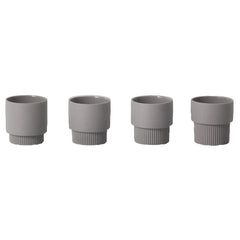 Groove Espresso Cups – Set of 4