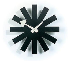 Nelson Asterisk Clock Black