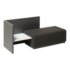 Team 6107 Double Seater with Corner Table and Back/Side Panel