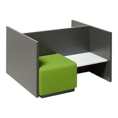 Team 6112 Single Seater with Corner Table, Back/Side Panels and Work Desk
