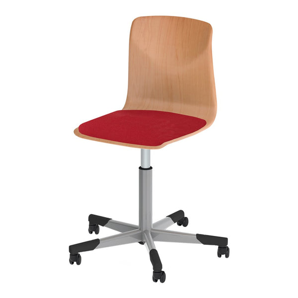 Pagholz® Series 72 Spindle Swivel Chair w/ Castors - Upholstered