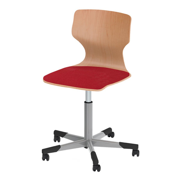 Pagholz® Series 78 Spindle Swivel Chair w/ Castors - Upholstered