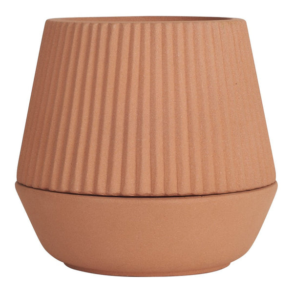 Pleated Planter Earthenware