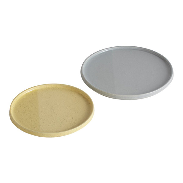 Sediment Plates - Grey/Yellow