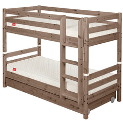 Classic Bunk Bed with Straight Ladder and 2 Drawers