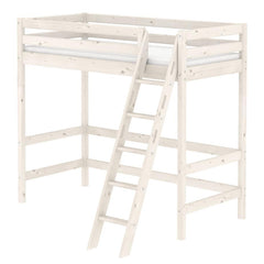 Classic High Bed with Slanting Ladder