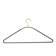 Ava Coat Hanger - Black/Brass - Outlet