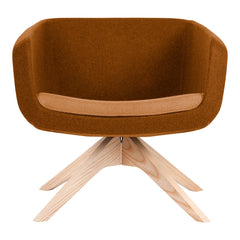 Arca Lounge Armchair - Wood Base