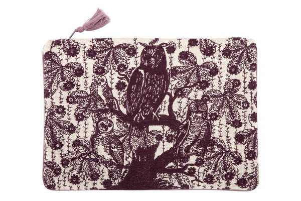 Embroidered Transferware Pouch