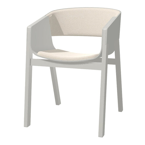 Armchair Merano - Seat & Back Upholstered - Beech Pigment Frame